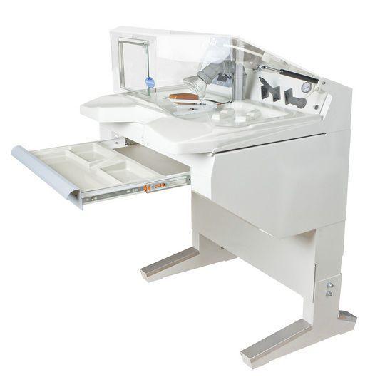 Dental laboratory workstation / with hood / 1-station Kousha Fan Pars Co. (KFP-Dental Co.)