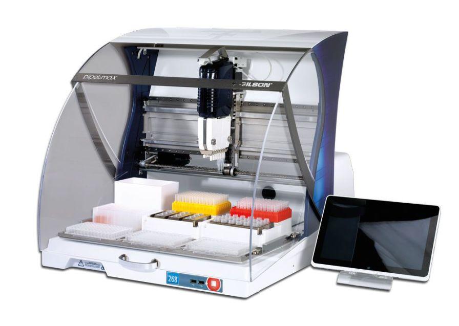 Laboratory liquid handling robotic workstation PIPETMAX® Gilson