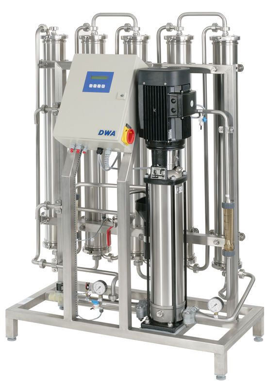 Reverse osmosis water treatment plant / hemodialysis MODULA | 350 ? 1750 l/h DWA