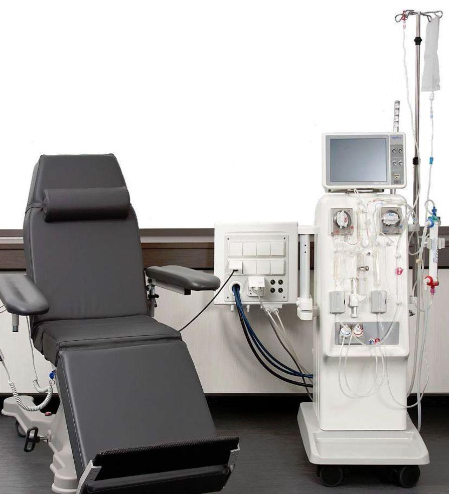 Wall-mounted supply unit nephro SLIDE DWA