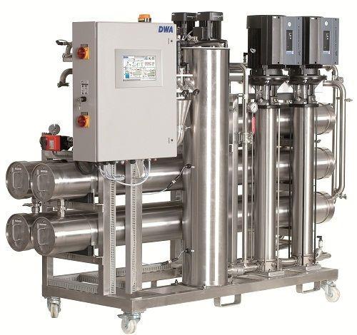 Hemodialysis water treatment plant / double reverse osmosis NEPHRO TP | 1700 l/h ? 5000 l/h DWA