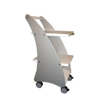 Medical device trolley / 3-tray MLT-Laser Medizinische Laser Technologie