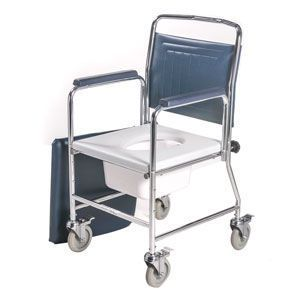 Commode chair / with backrest / with armrests / on casters max. 155 kg | 3175/4BC Roma Medical Aids