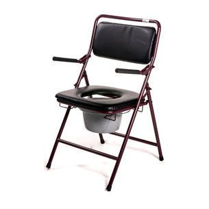 Commode chair / with backrest / with bucket / folding max. 133 kg | 3515 Roma Medical Aids