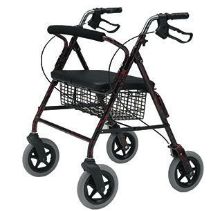 4-caster rollator / folding / with seat / bariatric max. 182 kg | 2467 Roma Medical Aids