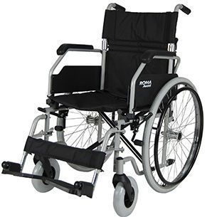 Passive wheelchair / height-adjustable / with legrest max. 114 kg | 1610 Roma Medical Aids