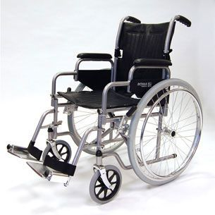 Passive wheelchair / height-adjustable / with legrest max. 114 kg | 1000 Roma Medical Aids