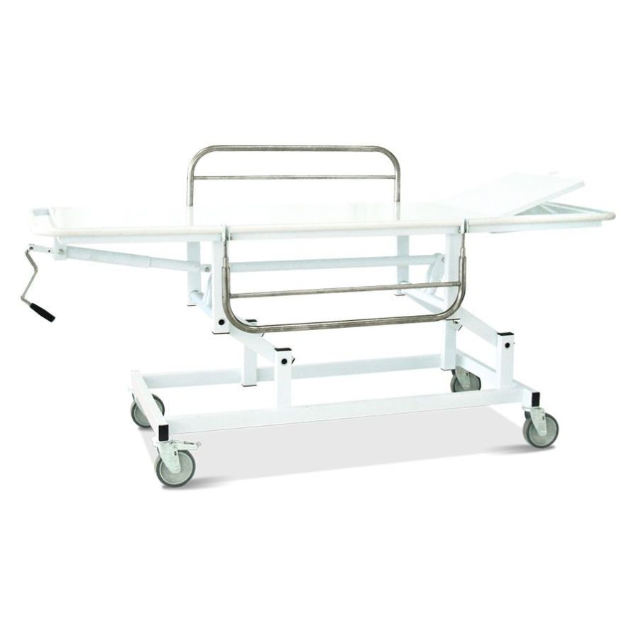Transport stretcher trolley / height-adjustable / mechanical / 4-section HM 2019 i Hospimetal Ind. Met. de Equip. Hospitalares
