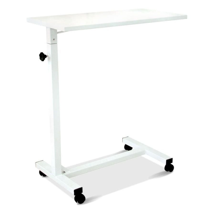 Height-adjustable overbed table / on casters HM 2028 Hospimetal Ind. Met. de Equip. Hospitalares