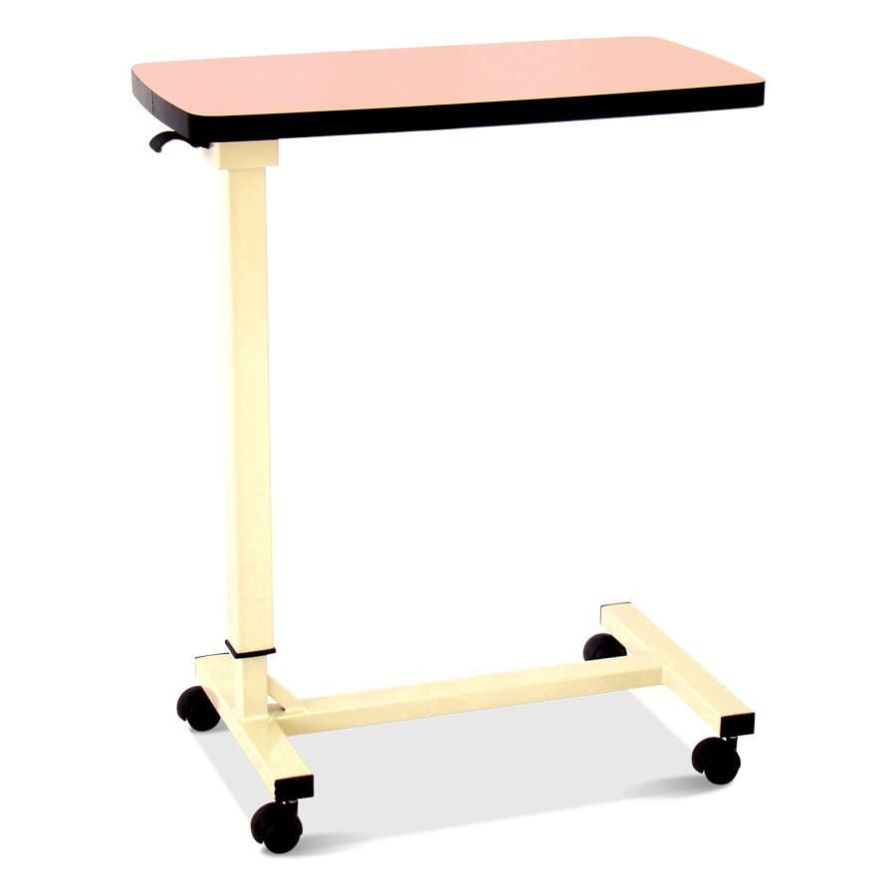 Height-adjustable overbed table / on casters HM 2027 B Hospimetal Ind. Met. de Equip. Hospitalares
