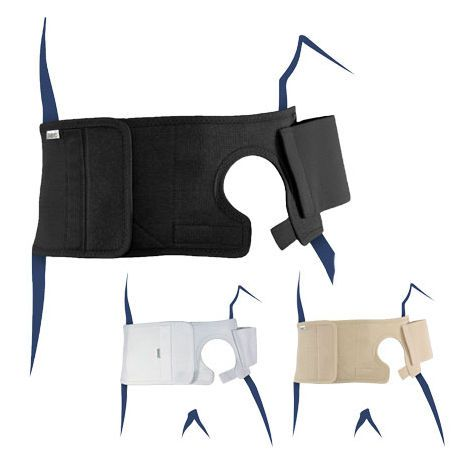 Lumbar support belt / with colostomy pouch opening STOMACARE EASYOPENER BASKO Healthcare