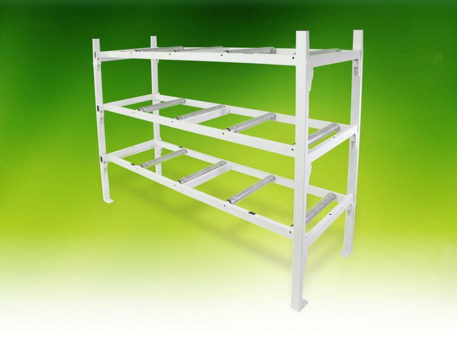 Mortuary storage shelving unit / 3-shelf A.R. Twigg & Son