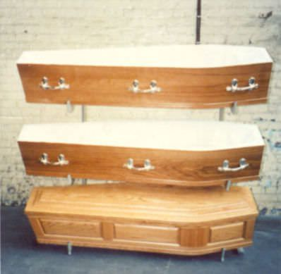 Mortuary storage shelving unit / 2-shelf A.R. Twigg & Son