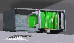 Microbiological and chemical decontaminator BIOCAIR™ ML Airinspace SAS
