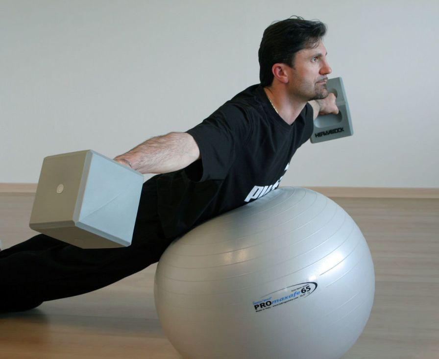 Large size Pilates ball ø 53 - 75 cm | Original Pezzi® PROmaxafe Ledragomma Original Pezzi