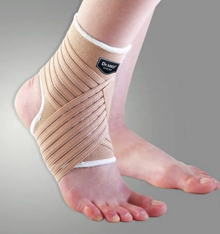 Ankle strap (orthopedic immobilization) / ankle sleeve / open heel DR-A009 Dr. Med