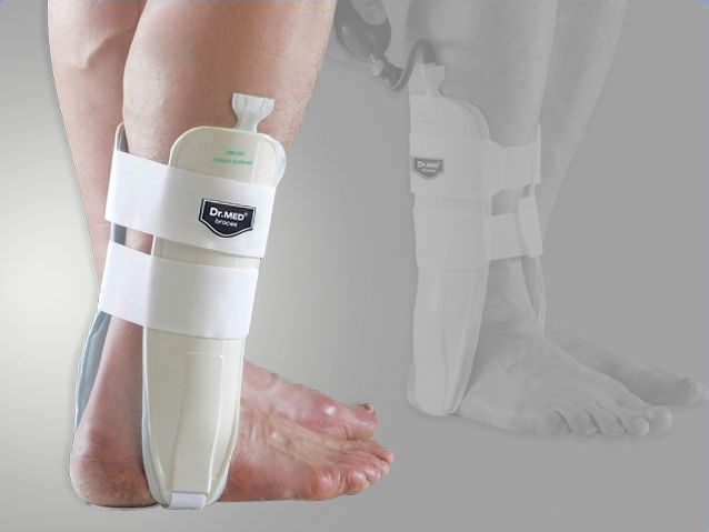 Ankle splint (orthopedic immobilization) / inflatable DR-A016-1 Dr. Med