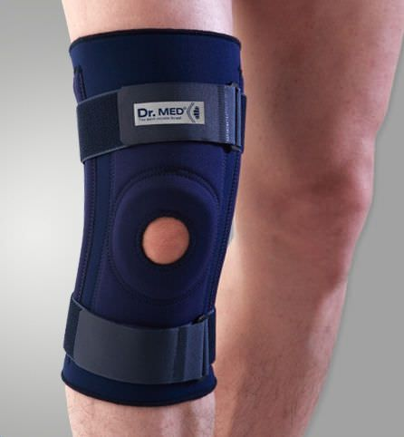 Knee orthosis (orthopedic immobilization) / with flexible stays / with patellar buttress / open knee DR-K008 Dr. Med