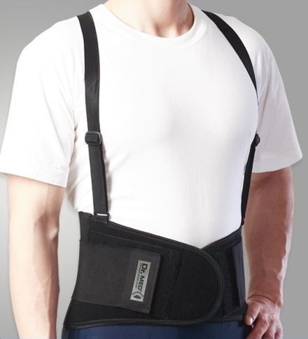 Lumbar support belt / with reinforcements / with suspenders DR-B003 Dr. Med