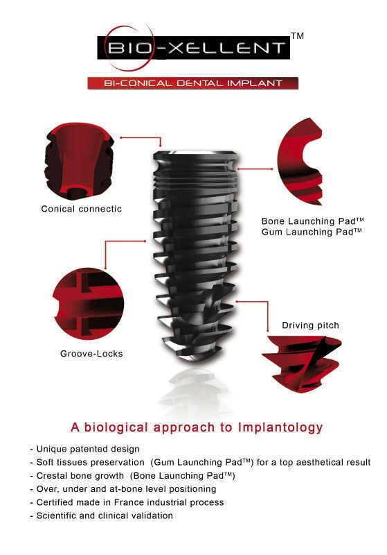 Cylindrical conical dental implant / titanium / internal hexagon Bio-xellent Drive Dental Implants
