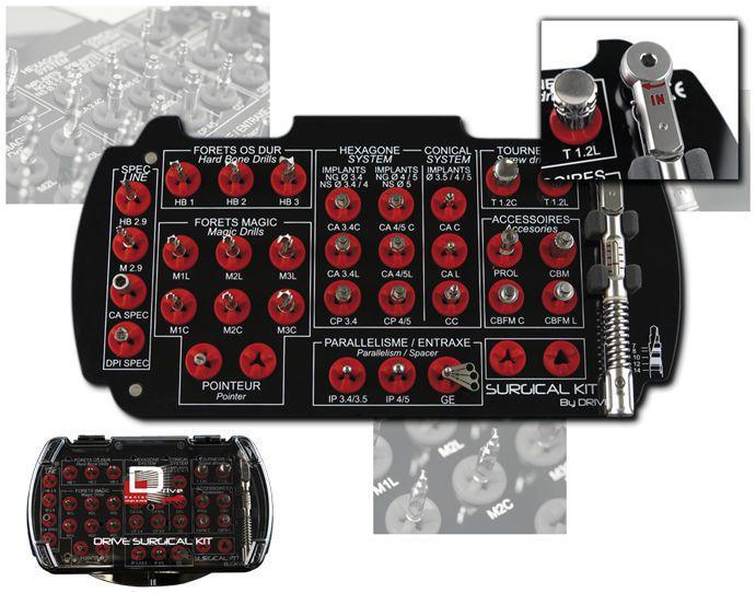 Implantology instrument kit / for dental surgery Drive Dental Implants