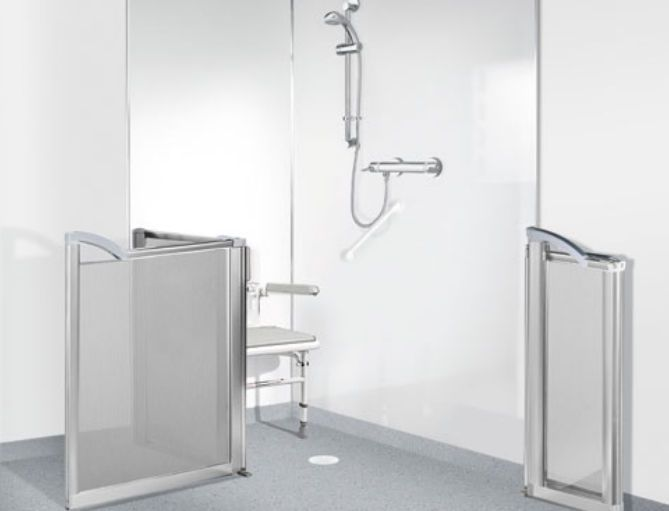 Shower with shower seat / medical Wet Rooms Gainsborough Baths
