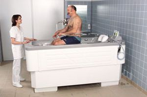 Whole body water massage bathtub / height-adjustable VISION Somethy