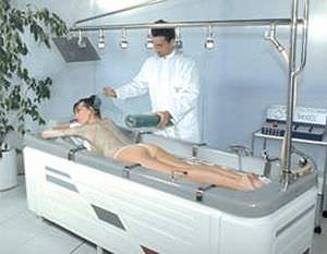 Whole body water massage bathtub / with horizontal hydromassage shower ALGOCOMPACT Somethy