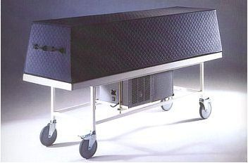 Funeral display refrigerated table Morquip