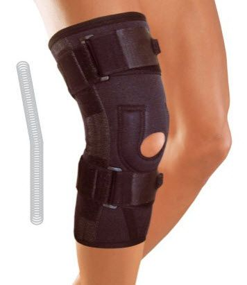 Knee orthosis (orthopedic immobilization) / with patellar buttress / open knee / with flexible stays 6130 GENUCARE Arden Medikal