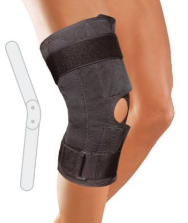 Knee orthosis (orthopedic immobilization) / knee ligaments stabilisation / with patellar buttress / articulated 6750, 6755 Arden Medikal