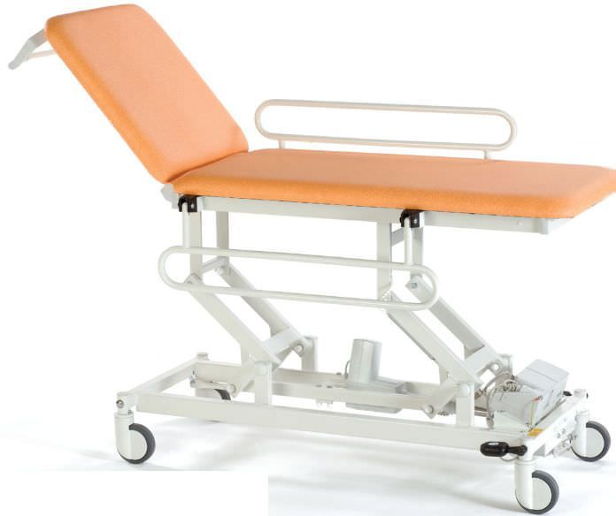 Hydraulic examination table / on casters / height-adjustable / 2-section STREAMLINE™ Mobile 2 Akron