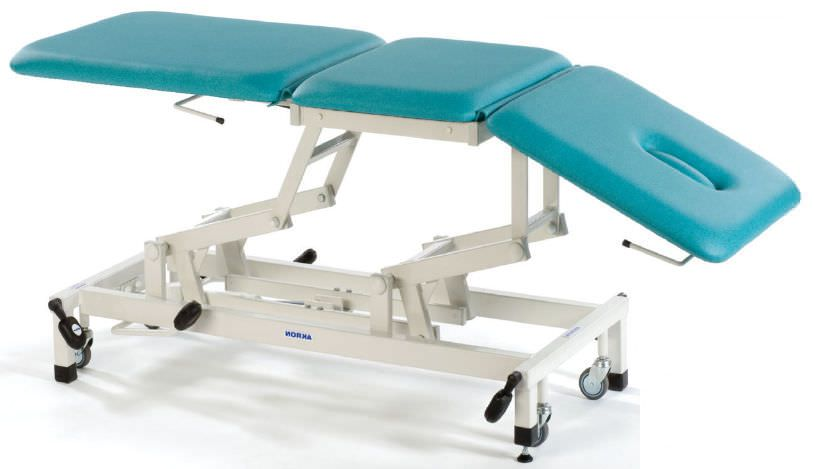 Hydraulic massage table / height-adjustable / on casters / 3 sections STREAMLINE™ Continental Akron