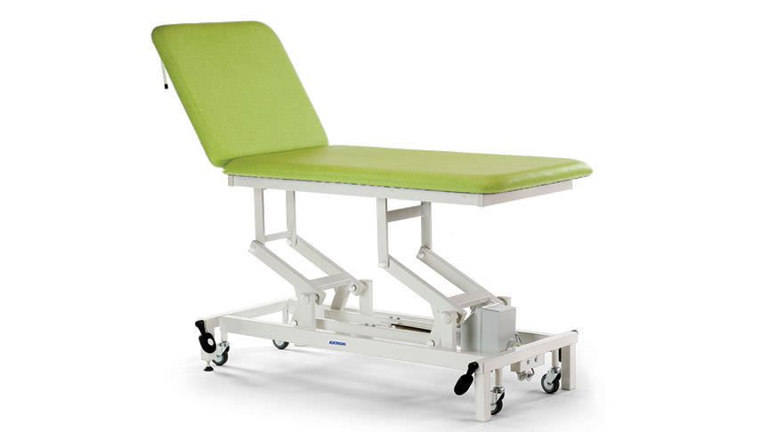 Hydraulic examination table / on casters / height-adjustable / 2-section STREAMLINE™ Merit 2 Akron
