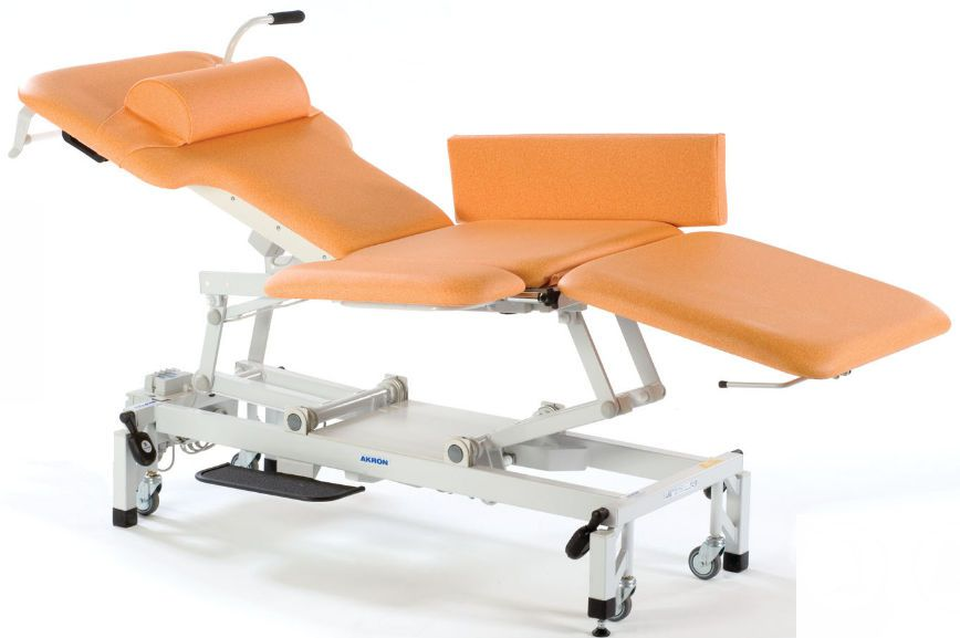 Echocardiography examination table / electrical / on casters / height-adjustable Echo 2 Akron