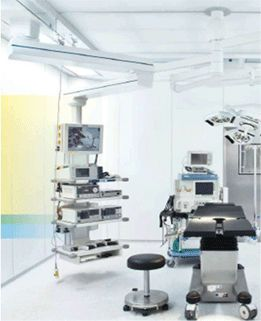 Ceiling-mounted medical pendant / articulated / with column Magnatek Enterprises