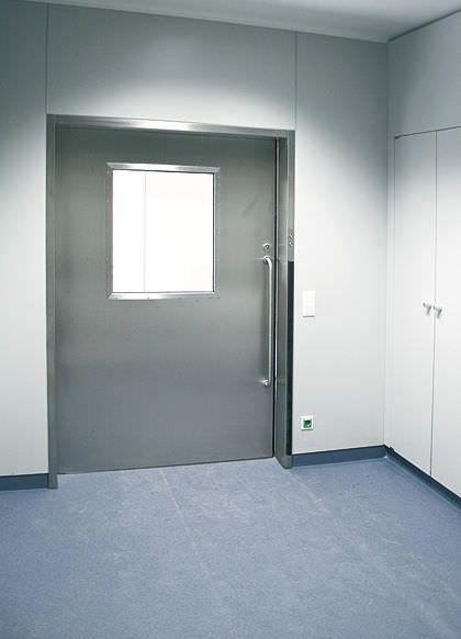 Laboratory door / hospital / swinging / hermetic - HT Labor + Hospitaltechnik