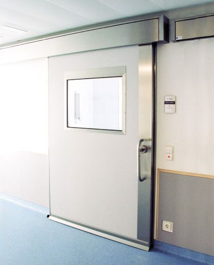 Laboratory door / hospital / sliding / hermetic Lab HT Labor + Hospitaltechnik