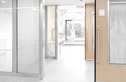 Hospital door / laboratory / sliding / fire HT Labor + Hospitaltechnik