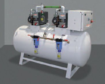 Medical vacuum system / rotary vane / lubricated HOSPIVAC® 2 MIL'S