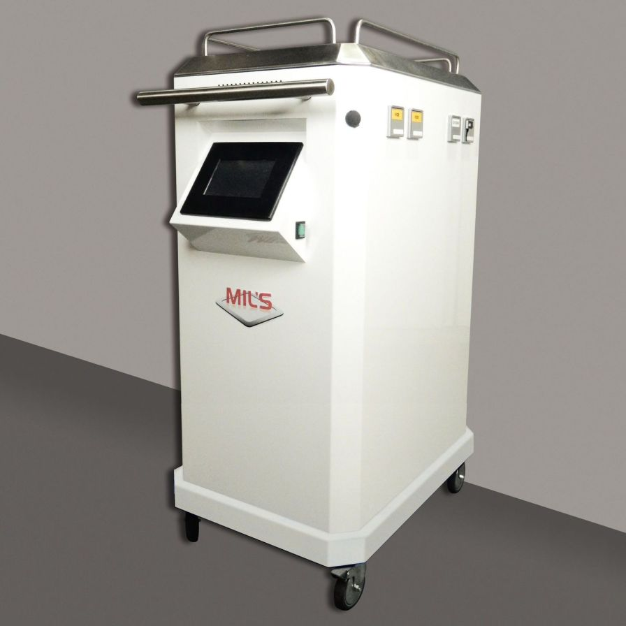 Mobile medical gas supply unit / with vacuum pump / with compressed air cylinder / with oxygen cylinder MIL'S