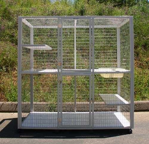 2-unit veterinary cage / 2-shelf S520F CD&E Enterprises