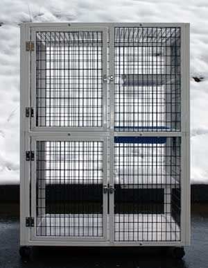 2-unit veterinary cage / 2-shelf S505 CD&E Enterprises