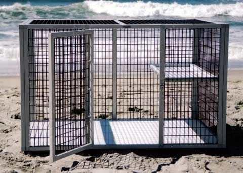 1-shelf veterinary cage S302 CD&E Enterprises
