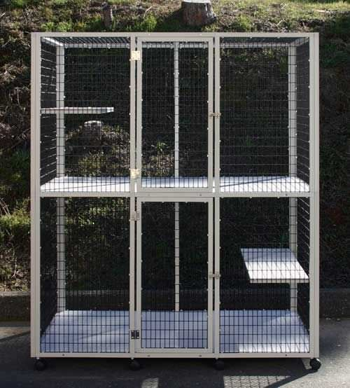 2-unit veterinary cage / 2-shelf S540F CD&E Enterprises