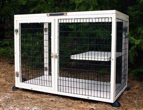 Collapsible veterinary cage / 1-shelf S601 CD&E Enterprises