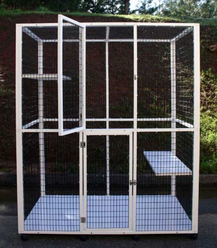 2-shelf veterinary cage S540 CD&E Enterprises