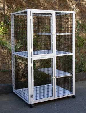 2-unit veterinary cage / 2-shelf S510 CD&E Enterprises