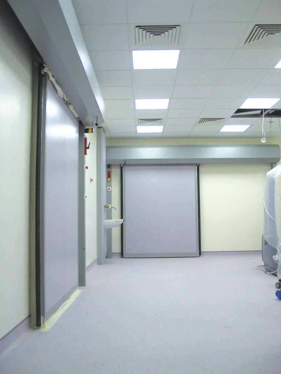 Hospital door / laboratory / sliding / radiation shielding AMRAY Medical