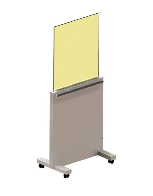 X-ray radiation protective shield / mobile / with window AMS - 076993 AMRAY Medical